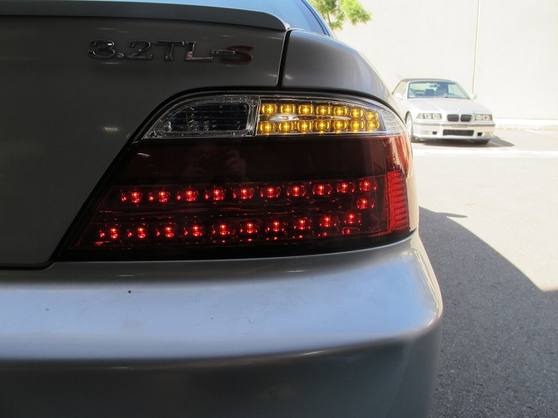 DEPO JDM NO ERROR LED Red Clear Rear Tail Lights For - Acura tl taillights
