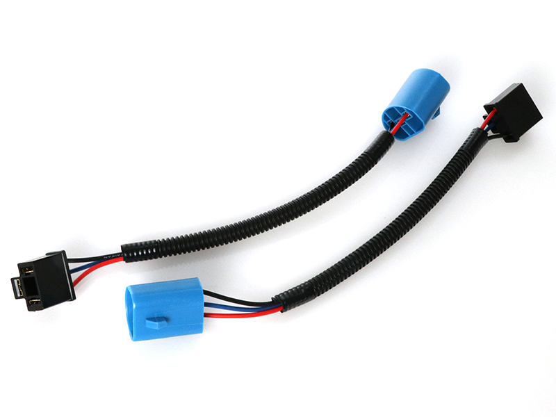 Headlight Conversion Cable V-Spec H13 to H4 Adapter PAIR